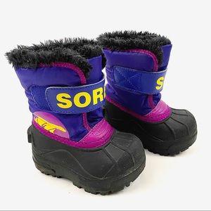 SOREL toddler's Snow Commander velcro strap boots